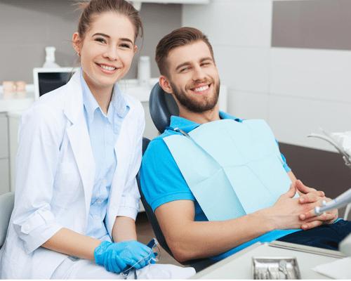 Lynbrook Dental patient
